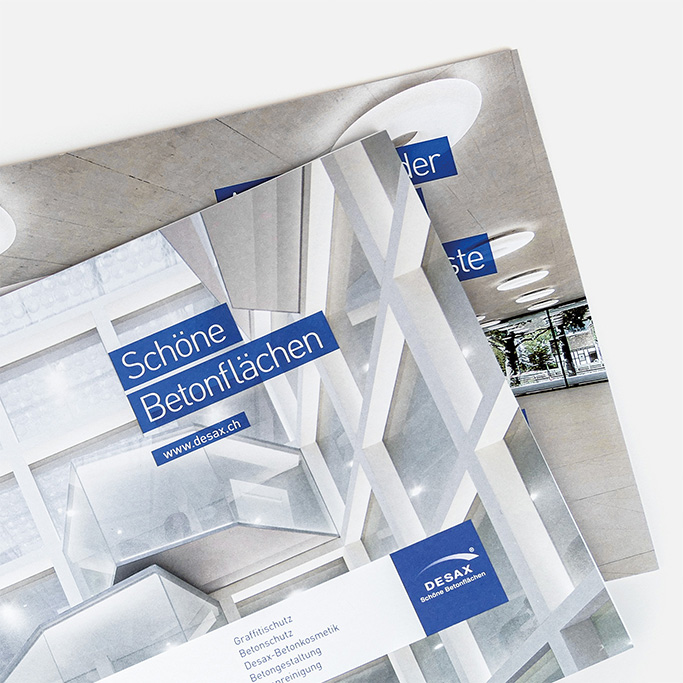 Schöne Betonfläche Katalog DESAX AG